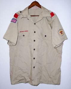BOY SCOUTS Of America Insignia Uniform Shirt BSA Scout USA Adult Mens : XL