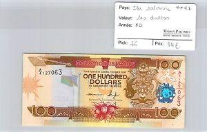 BILLET ILES SALOMON - 100 DOLLARS - ND ****