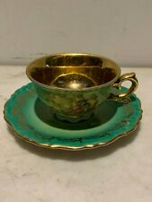 Gorgeous demitasse cup and saucer by ROYAL KM PORZELLAN BAVARIA, Germany