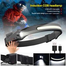 Cob Usb Led Headlamp Headlight Torch Flashlight Work Light Bar Head Band Lamp