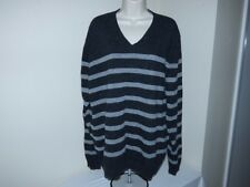 Men's BLUE PRONTO UOMO Size XXL V-neck Sweater Charcoal & Gray Long Sleeves
