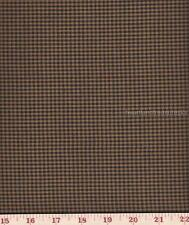 Dunroven House H-73 Homespun Mustard Black Sm Plaid Fabric 1/2 Yd Cut Off Bolt
