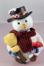 33cm Musical Magical Revolving Projection Snowman with Colour Changing LED's