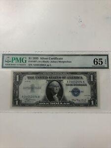 1935 $1 1935 Silver Certificate PMG (AA Block) Uncirculated S/N A04652694 A pp L