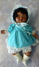 """Vintage Fisher Price Baby Soft Sounds Doll 1979 African American 17"""" 214 Dressed"""
