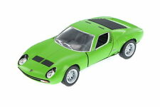New Kinsmart 1971 Lamborghini Miura P400 SV Diecast Model Toy Car 1:34 Green