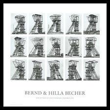 Bernd et Hilla Becher chevalements poster image Art pression dans le cadre alu 70x70cm