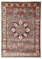 "Neutral Heriz Serapi 5'7"" x 7'10"" Hand Knotted Persian Silk & Wool Area Rugs"