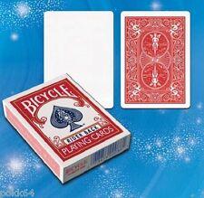 Jeu de carte BICYCLE truqué Double Face Standard Dos Rouge Bleu Blanc tour magie