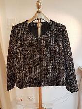 Cortefiel negro, gris, azul entramado chaqueta con lurex XXL 44 alemana