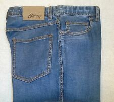 Brioni  Stretch Cotton 5 Pocket Jeans NWT $545 32 x 34 Made in Italy Denim Blue