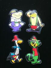 1970's Hanna-Barbera Four Puffy Magnets Nm/Mint Condition.