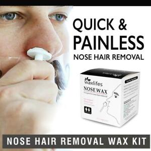 100g Nose Ear Hair Removal Wax Kit Sticks Easy Mens Nasal Waxing Strip Remover.