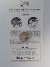 Andorra - 10 Diners - 1989 - Silber - Fussball WM 1990 Italien - PP