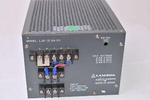 Veeco, LAMBDA, Model: LJS-12-24-OV, Power Supply, 105-132VAC, 47-440Hz