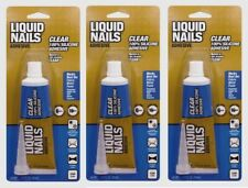 3~ New! LIQUID NAILS Clear Small Projects Silicone Adhesive Glue 2.5 oz. LN-207