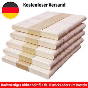 Eisstiele Holzstiele Sticks  Stäbchen Wachsen Birken Holzspatel Basteln
