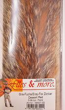 Gris zorro Gray Fox zonker 3 x 17 cm x 6 mm postre red