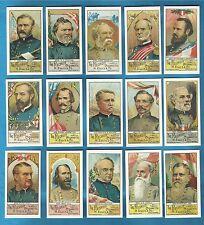 Ellis cigarette cards - GENERALS OF THE AMERICAN CIVIL WAR - mint condition set.
