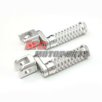 Silver Billet CNC Front Adjustable Foot Pegs For Buell XB9R XB12R Firebolt 1125R