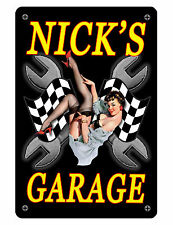 Personalized GARAGE Sign Printed w/ YOUR NAME Custom Quality Aluminum GIRL #310
