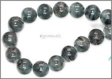 "16 Blue Green Kyanite Round Beads 13mm 7.8"" #70016"