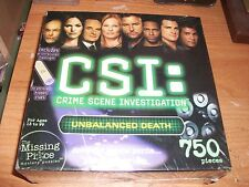 CSI: Crime Scene Investigation Unbalanced Death 750 Piece Jigsaw Puzzle NEW
