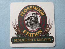 Beer COASTER: FLOSSMOOR STATION Restaurant & Brewery ~ Illinois Established 1996