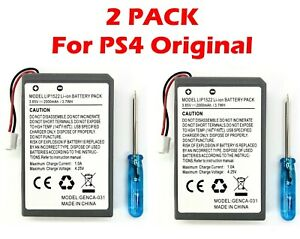 2x 2000mAh *ORIGINAL* Rechargeable Battery + Screwdriver For PS4 Controller