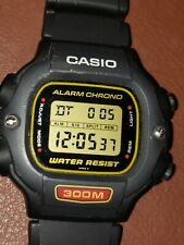 Vintage Casio DW-340 Men's Diver Watch  Excellent Condition  Rated 300m new band