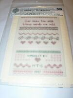 GOD LOVES CHILDREN GREETING NOTE CARD COUNTED CROSS STITCH SAMPLER CHART PATTERN