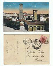 MILANO CHIESA SANT' AMBROGIO CARTOLINA VIAGGIATA 1920 - A COLORI