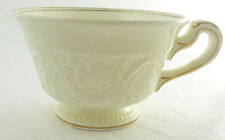 Wedgwood Patrician Gold Footed Cup Etruria & Barlaston Off White Scrolls