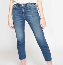 Plus Size Straight Leg Cotton Faded Jeans for Women