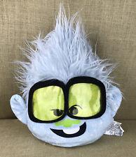 "DreamWorks Trolls 12"" Blue Sparkle Plush Guy Head Pillow Diamond Toy Factory"