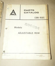 1977 Allis-Chalmers Corn Heads Adjustable Row Parts Catalog Manual P/N 9004918