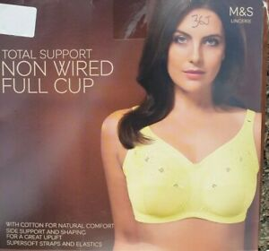 Marks & Spencer Yellow lace smoothing Full cup bra 36J Non Wired Unpadded
