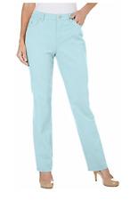 Womens Gloria Vanderbilt Classic Tapered Amanda Jeans Aqua Sky Size 16 Ave