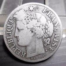 2 Francs  CÉRÈS 1871 Grand K - ARGENT - RARE