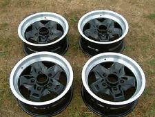 4x porsche 944, 911 cookie cutter 15 pouces roues en alliage remis à neuf-noir