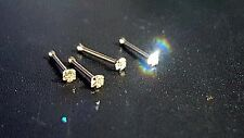 9ct Solid Yellow Gold genuina 1.5mm Diamante Para Nariz Ball End Entrega Gratis