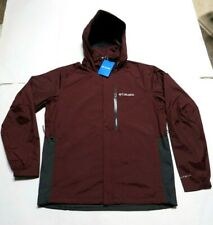NWT Columbia Men's Puddletown Hooded Jacket w/ Omni-Tech - Size MEDIUM