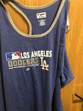 LA Dodgers Majestic MLB Authentic Collection Razorback Tank Top Sz XXXL 3X Women