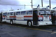 Seattle Transit Twin Coach bus Kodachrome original Kodak slide