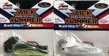 (2) Z-Man Jack Hammer Chatterbaits 3/4oz Bhite Delight & White 2Z