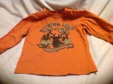 Wonder Kids 3T Boys Cotton Mountain Lodge Orange Pullover