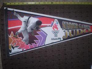 VINTAGE 1996 ATLANTA OLYMPIC GAMES PENNANT - SUMMER GAMES - JUDO - FAST SHIPPER