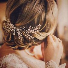 Luxury Vintage Bride Hair Accessories Handmade Pearl Wedding Jewelry Comb OC