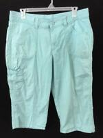 Riders by Lee capris pants size 18 blue mid rise skimmer roll up leg cargo