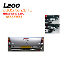 Mitsubishi L200 2005-2015 Rear Back Chrome Bumper Steps bar step warrior - M222